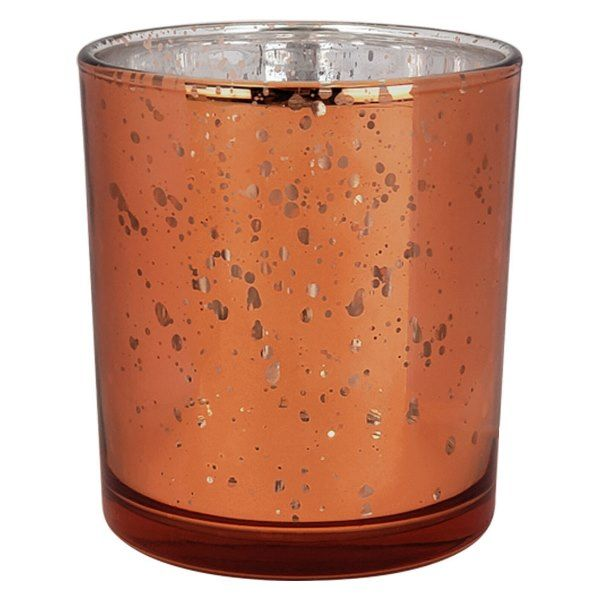 "Mercury Glass Votive Candle Holder 3""H Bronze"