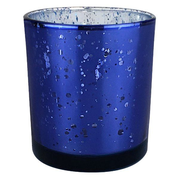 "Mercury Glass Votive Candle Holder 3"" Speckled Navy"