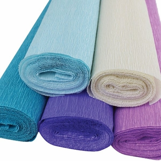 Mermaid Assorted Crepe Paper Roll Package 5pcs