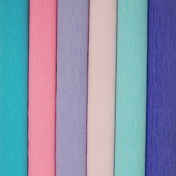 Mermaid Assorted Crepe Paper Roll Package 6pcs
