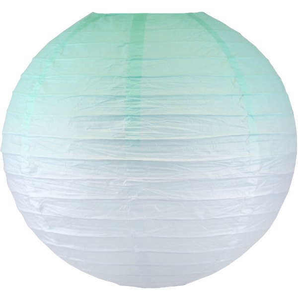 Mermaid Mint Ombre 12inch Paper Lantern