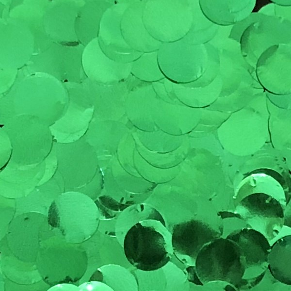 Metallic Foil Confetti Dots Green