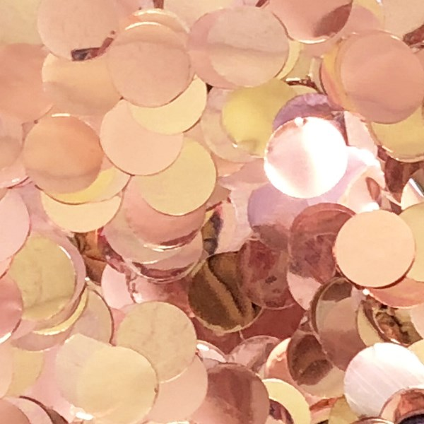 Metallic Foil Confetti Dots Rose Gold