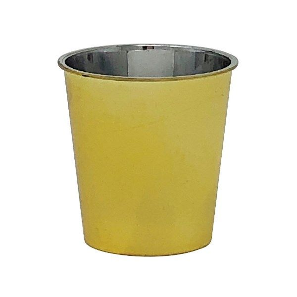 Metallic Gold Solid Plastic Shot Glass 1oz 30pcs