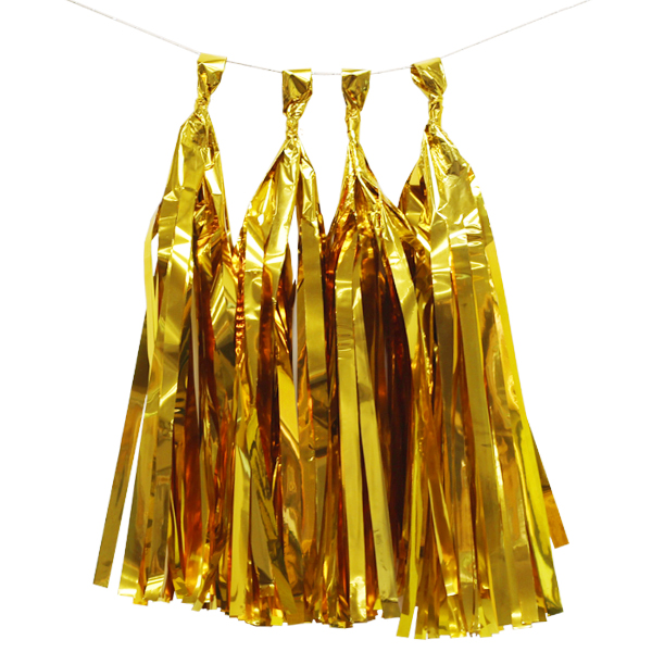 Metallic Tassel Garland Kit 4 Tassels Gold