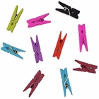 Mini 1-inch Craft Wood Clothespins/Peg Pins (100pc, Assorted Colors) - Premier