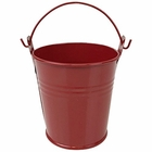 Mini 3inch Metal Crayon/Pencil Holder Favor Bucket Pail (6pcs, Red) - Premier