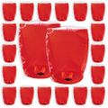 Mini Eco-Wire Free Biodegradable Eclipse Sky Lanterns (Set of 20, Red) - Premier