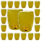 Mini Eco-Wire Free Biodegradable Eclipse Sky Lanterns (Set of 20, Yellow) - Premier