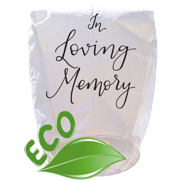 Mini ECO Wire-Free Eclipse In Loving Memory Memorial Sky Lantern