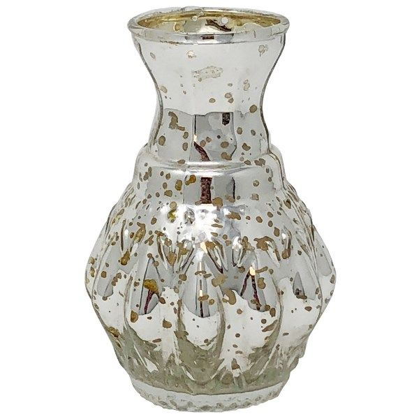 Mini Glass Vase Silver Bernadette
