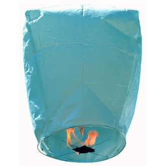 Mini Premium Eco-Wire Free Eclipse Sky Lanterns (Set of 20, Blue) - Premier