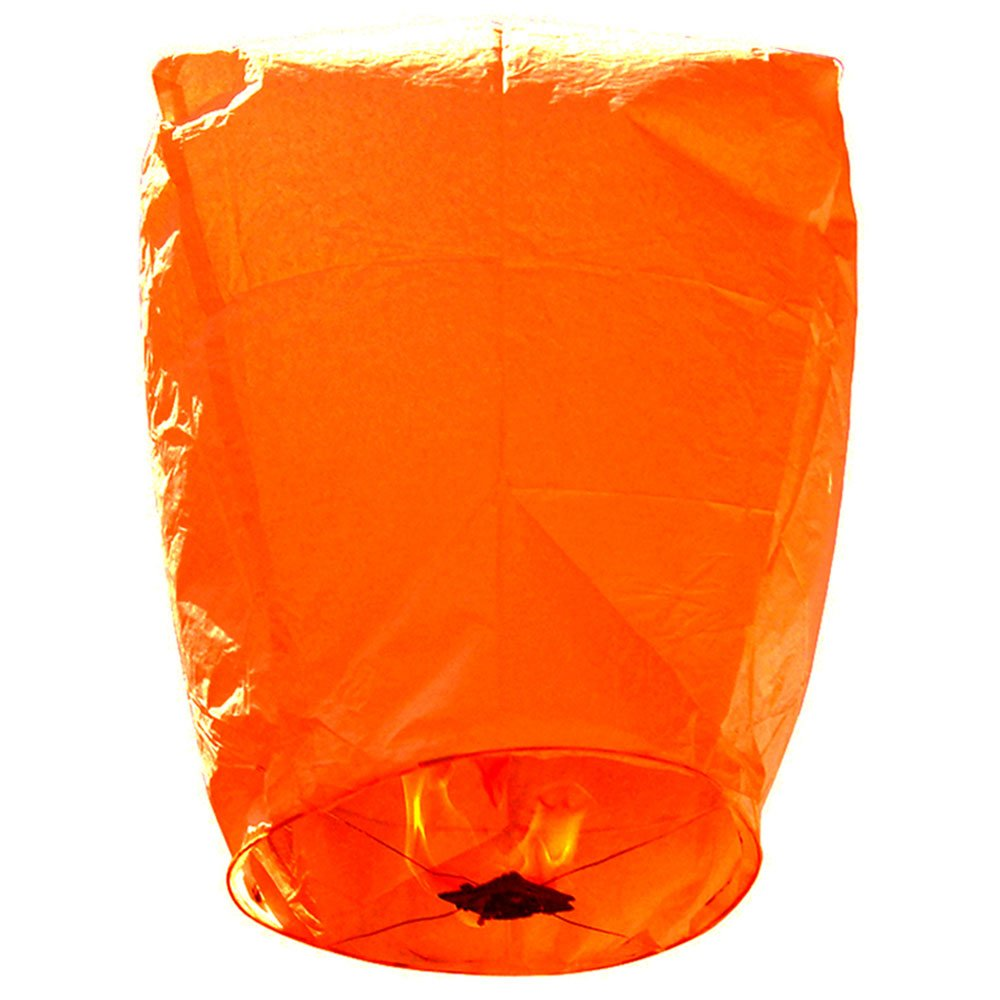 Mini Premium Eco-Wire Free Eclipse Sky Lanterns (Set of 20, Orange) - Premier