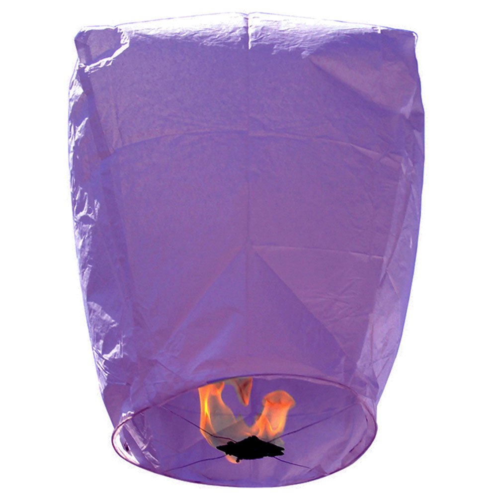 Mini Premium Eco-Wire Free Eclipse Sky Lanterns (Set of 20, Purple) - Premier