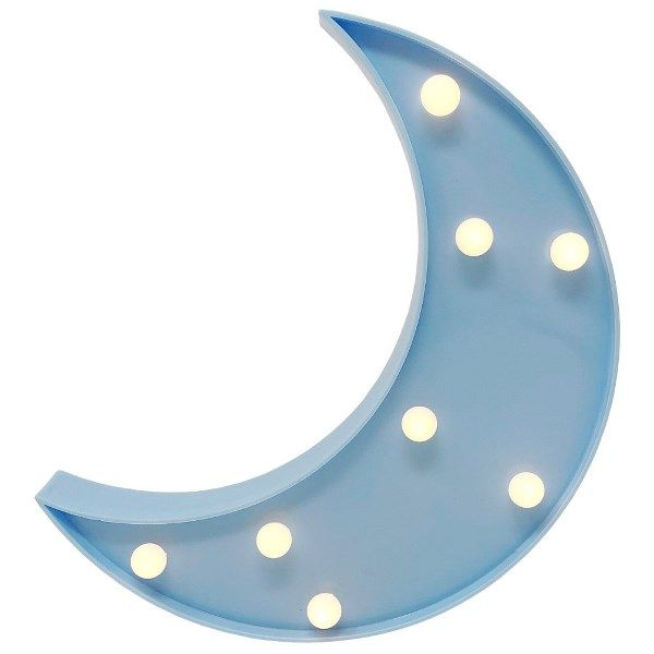 Moon Light Blue 9in Marquee LED Battery Operated Light