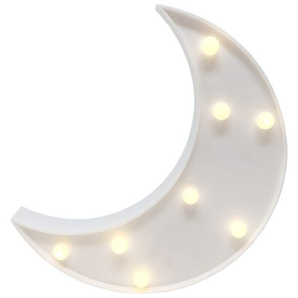 Moon White 9in Marquee LED Battery Operated Light