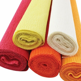On Fire Assorted Crepe Paper Roll Package 5pcs