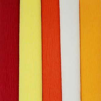 On Fire Assorted Crepe Paper Roll Package 5pcs 90g