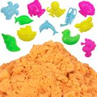 Orange 1lb Sensory Play Sand with 12 Aquatic Molds