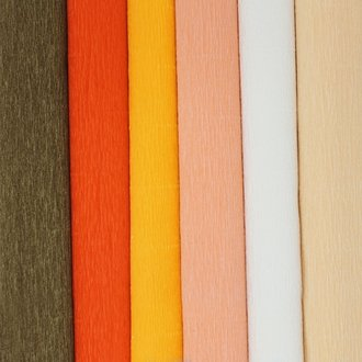 Orange Assorted Crepe Paper Roll Package 6pcs
