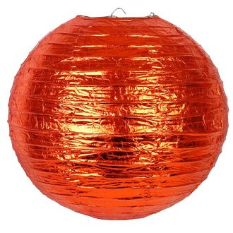 Orange Copper Foil Metallic 12inch Paper Lantern