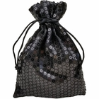 CLEARANCE Organza Favor Bag 10pcs Black Sequence