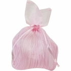 Organza Favor Bag 10pcs Pink Striped