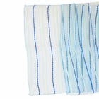 Organza Stripe Table Runner Cobalt Blue