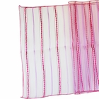 CLEARANCE Organza Stripe Table Runner Fuchsia Pink