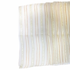 CLEARANCE Organza Stripe Table Runner Ivory