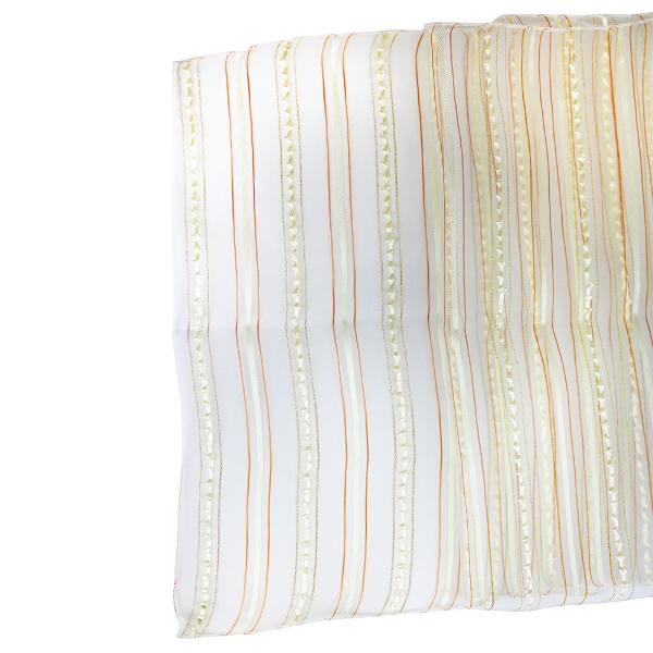 Organza Stripe Table Runner Ivory