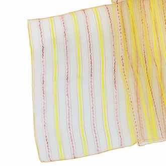 CLEARANCE Organza Stripe Table Runner Mango Orange