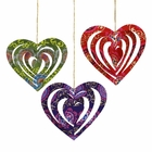 CLEARANCE Origami Heart Ornament 3pcs Multicolor