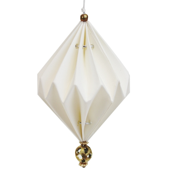 CLEARANCE Origami Ornament Vanja Tassel White