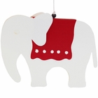 Ornament Kirigami Red and White Elephant