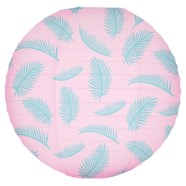 Palm Frond Paradise Pattern 12inch Paper Lantern