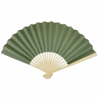 Paper Hand Fan Army Green