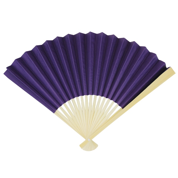 Paper Hand fan Aubergine Purple