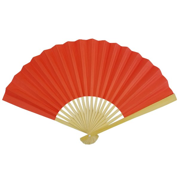 Paper Hand fan Begonia Red