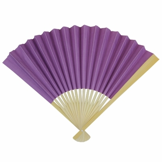Paper Hand fan Bellflower Purple