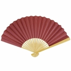 Paper Hand fan Boysenberry Red