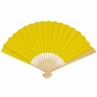 Paper Hand fan Buttercup Yellow