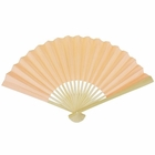 Paper Hand fan Cantaloupe Orange