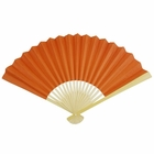 Paper Hand fan Cayenne Orange
