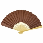 Paper Hand fan Chocolate Brown