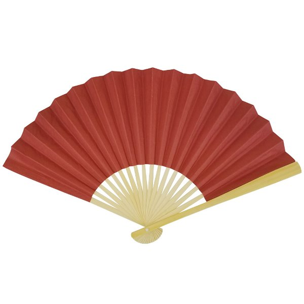 Paper Hand fan Cinnabar Red