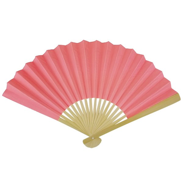 Paper Hand fan Coral Pink