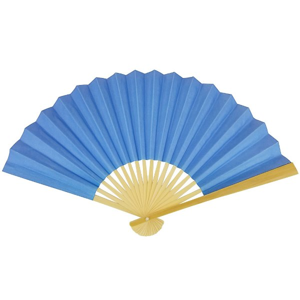 Paper Hand fan Cornflower Blue