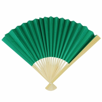 Paper Hand fan Emerald Green