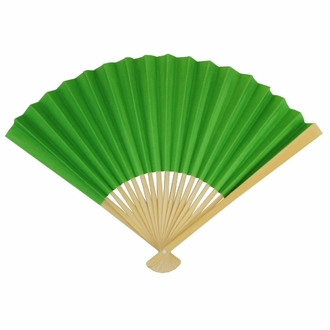Paper Hand fan Grass Green